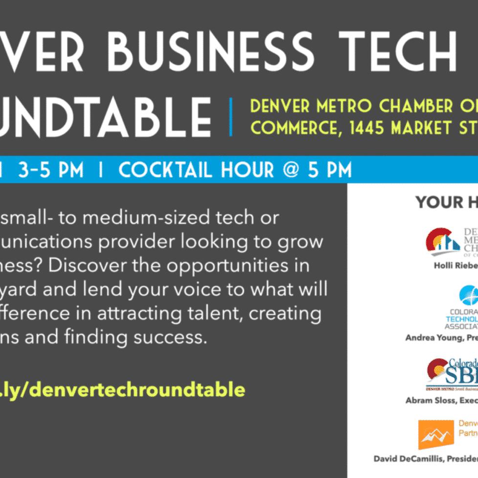 Denver Business Tech Roundtable Flyer